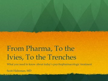 From Pharma, To the Ivies, To the Trenches