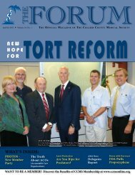 Forum Sept/Oct 2008 - Collier County Medical Society