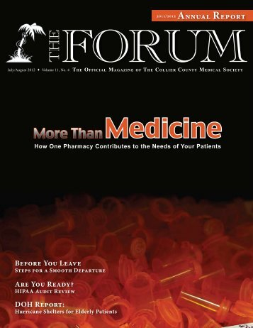 July-August 2012 The Forum - Collier County Medical Society