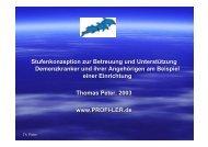 Zur Stufenkonzeption der Betreuung von ... - Horst Bertsch