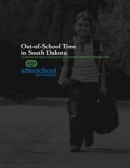 Out-of-School Time in South Dakota - Statewide Afterschool Networks