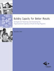 Building Capacity for Better Results - The Finance Project