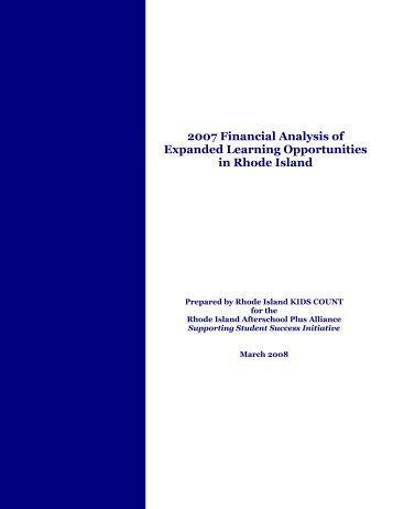 Financial Analysis of Expanded Learning Opportunities in Rhode ...