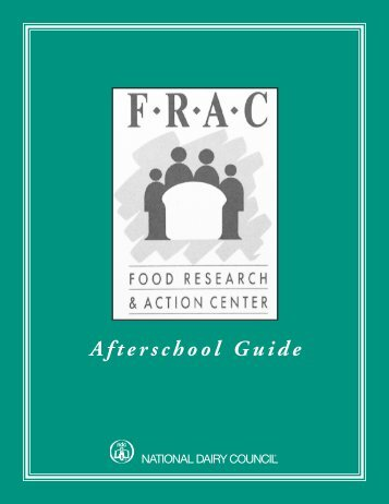 FRAC AFTERSCHOOL GUIDE-1E - Statewide Afterschool Networks