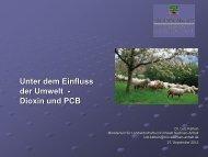 Unter dem Einfluss der Umwelt - Dioxin und PCB