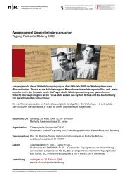 Unrecht wiedergutmachen Tagung Politische Bildung 2009