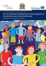 Tagungs-Flyer - Pädagogische Hochschule Zürich