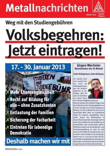 Metallnachrichten - Hochschulinformationsbuero.de