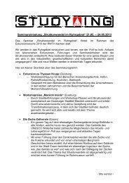 """""""Strukturwandel im Ruhrgebiet"""" 21.05. – 24.05.2013"""