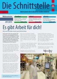 Download Schnittstelle Nr. 15 - Hochschulinformationsbuero.de
