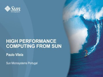 HIGH PERFORMANCE COMPUTING FROM SUN