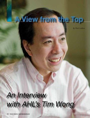 An Interview with AHL's Tim Wong A View from the Top - Man ...