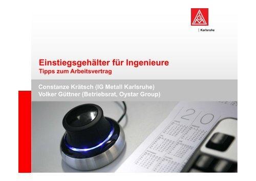 Einstiegsgehälter für Ingenieure - Hochschulinformationsbuero.de
