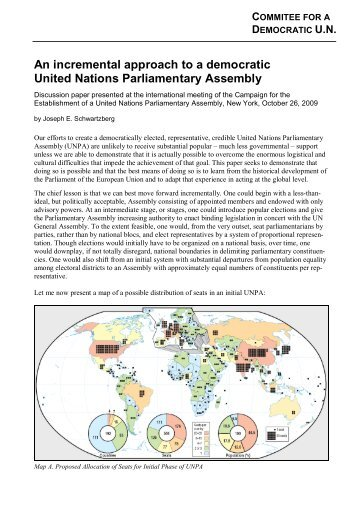 An incremental approach to a democratic United Nations ...