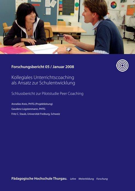 Kollegiales Unterrichtscoaching als Ansatz zur Schulentwicklung
