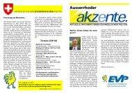 Ausserrhoder akzente 18 2010 - EVP Appenzell Ausserrhoden