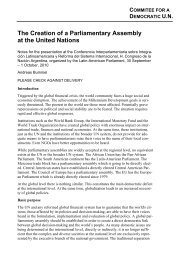 The Creation of a Parliamentary Assembly at the United Nations