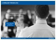 2. WEBLAW FORUM 2012 - 3. Weblaw Forum
