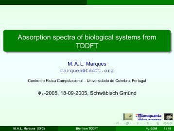 Absorption spectra of biological systems from TDDFT - Centro de ...