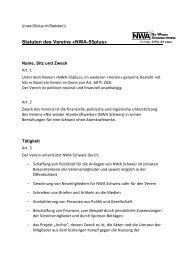 Statuten des Vereins «NWA-55plus» - Nie wieder Atomkraftwerke