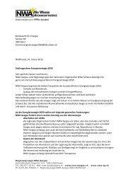 Brief von NWA-AG zur Stellungnahme zur Energiestrategie 2050