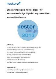 Erläuterungen zum nestor-Siegel für vertrauenswürdige digitale ...