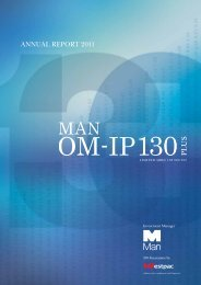 ANNUAL REPORT 2011 - Man Investments Australia