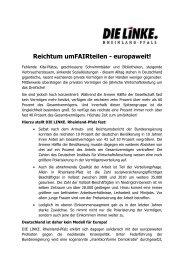 Reichtum umFAIRteilen - europaweit! - Katrin Werner
