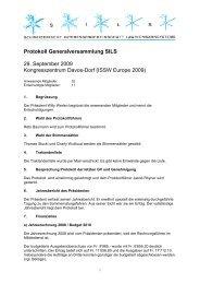 Protokoll zur GV 2009 vom 29.09.2009