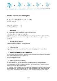 Protokoll Generalversammlung SILS