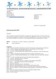 Einladung Tagung August 2009