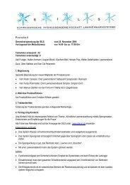 Protokoll zur GV 2004 vom 25.11.2004