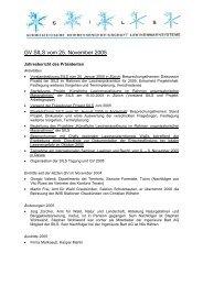 Jahresbericht des Präsidenten 2005