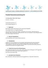 Protokoll zur GV 2006 vom 14.11.2006