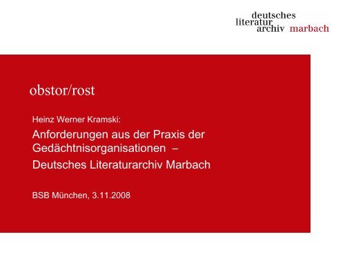 nestor: obstor/rost. BSB 3.11.2008