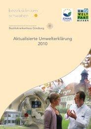 Aktualisierte Umwelterklärung 2010 - Bezirkskrankenhaus Günzburg