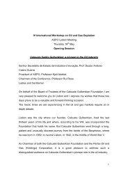 1 IV International Workshop on Oil and Gas Depletion ASPO Lisbon ...