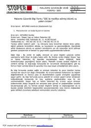 TA 72 10 Malzeme Güvenlik Veri Formu - BITUMEX ... - Bitumex.com.tr