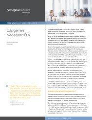 Capgemini Nederland B.V. - Perceptive Software