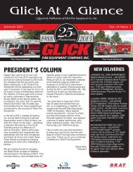January 2013 :: Vol.19 / Issue 1 - Glick Fire Equipment Co.