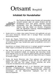 Infoblatt für Hundehalter - Ortsamt Borgfeld