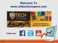 CBTTECHTROOPERS- IT service company