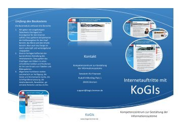 Flyer Modernisierungsmesse - KoGIs - Bremen