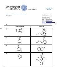 Universität Rostock | Fakultät für Beispiel, - Organische Chemie