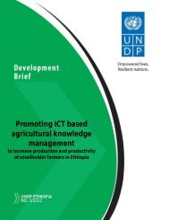 Promoting ICT based agricultural knowledge management - UNDP