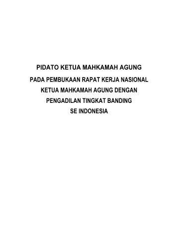 6. PIDATO KETUA MAHKAMAH AGUNG - PT Bandung
