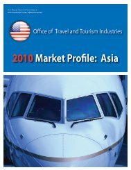 2010Market Profile: Asia - Office of Travel and Tourism Industries