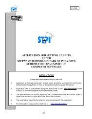 APPLICATION FOR SETTING UP UNITS UNDER ... - STPI Dehradun