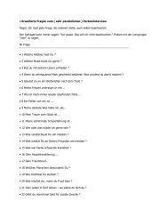• Erweiterte Fragen zum ( sehr persönlichen ) Partnerinterview ...