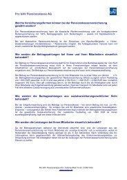 Antwortkatalog für Arbeitgeber (PDF, 67 - Pro bAV Pensionskasse AG